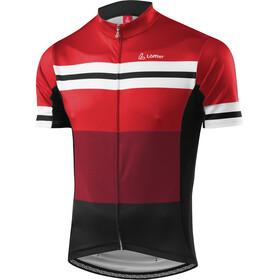 Löffler Giro - Maillot manches courtes Homme - rouge/noir